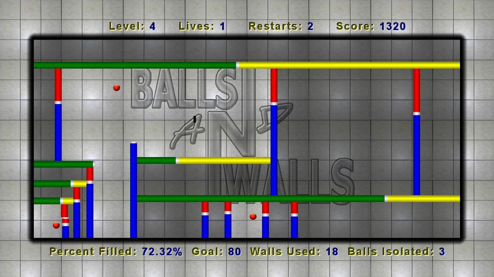 Balls N Walls, Balls N Walls Review, Xbox LIVE, Xbox, X360, Xbox 360, Indie, Game, Review, Reviews,
