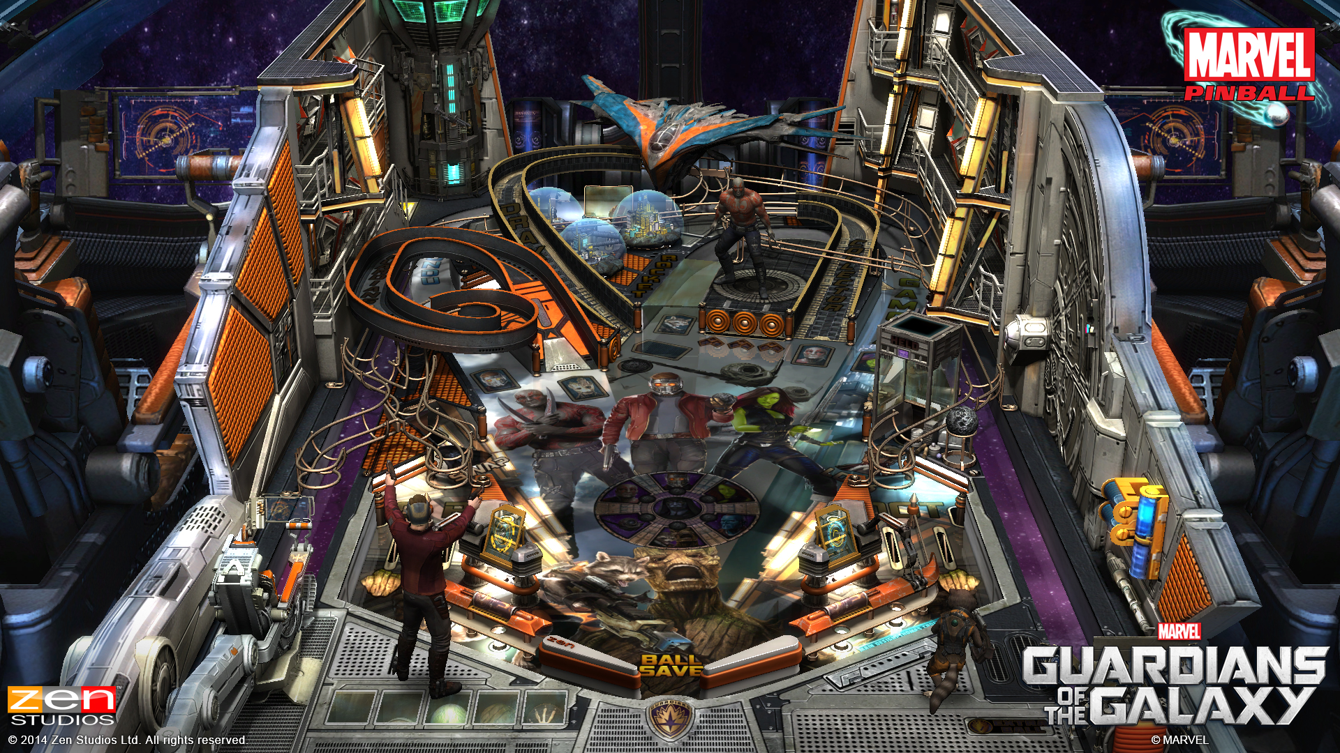 ZEN Pinball 2 Guardians of the Galaxy Review Screen 1
