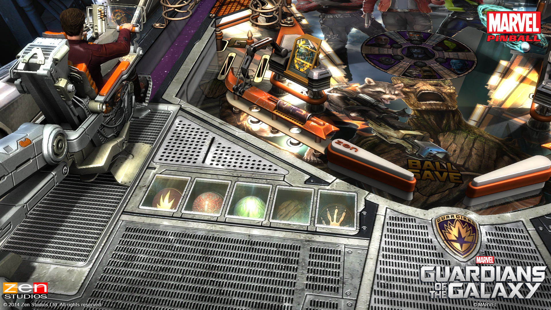 ZEN Pinball 2 Guardians of the Galaxy Review Screen 3