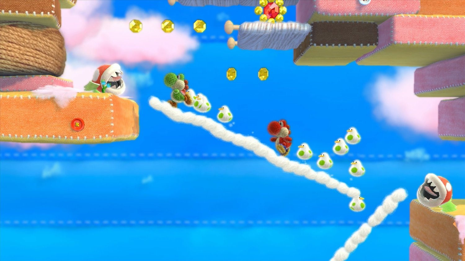 Yoshi's Woolly World Wii U Review Screenshot 2