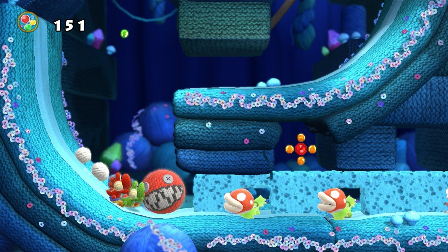 Yoshi's Woolly World Wii U Review Screenshot 3