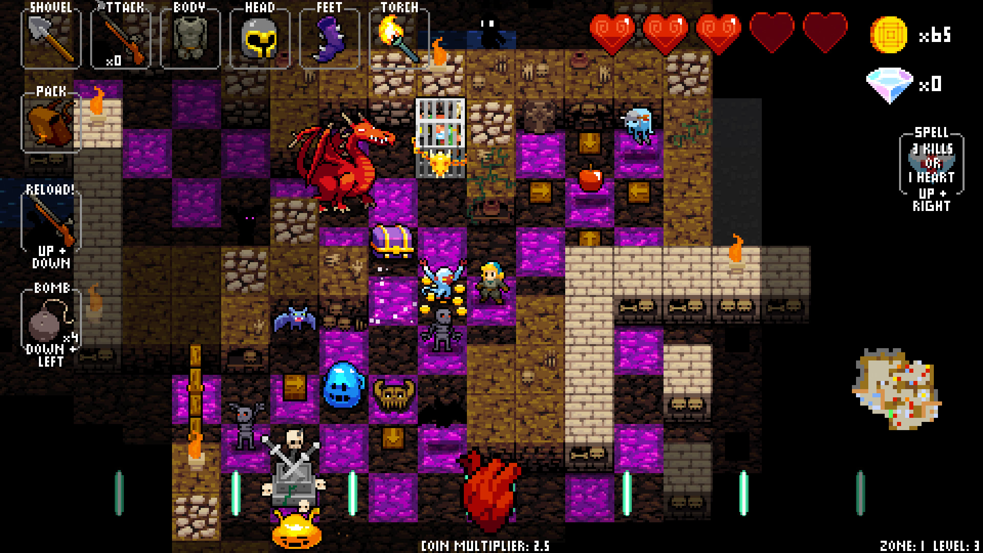 Crypt of the Necrodancer Review Screenshot 1