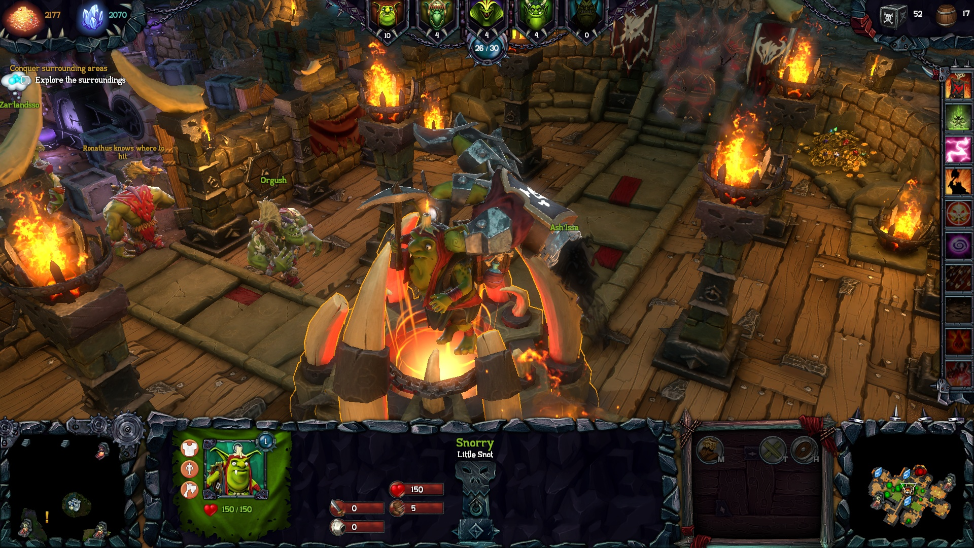 dungeons 2 how to get minions to work on brewery