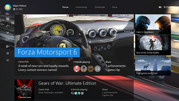 Xbox One Update- an entirely new user experience