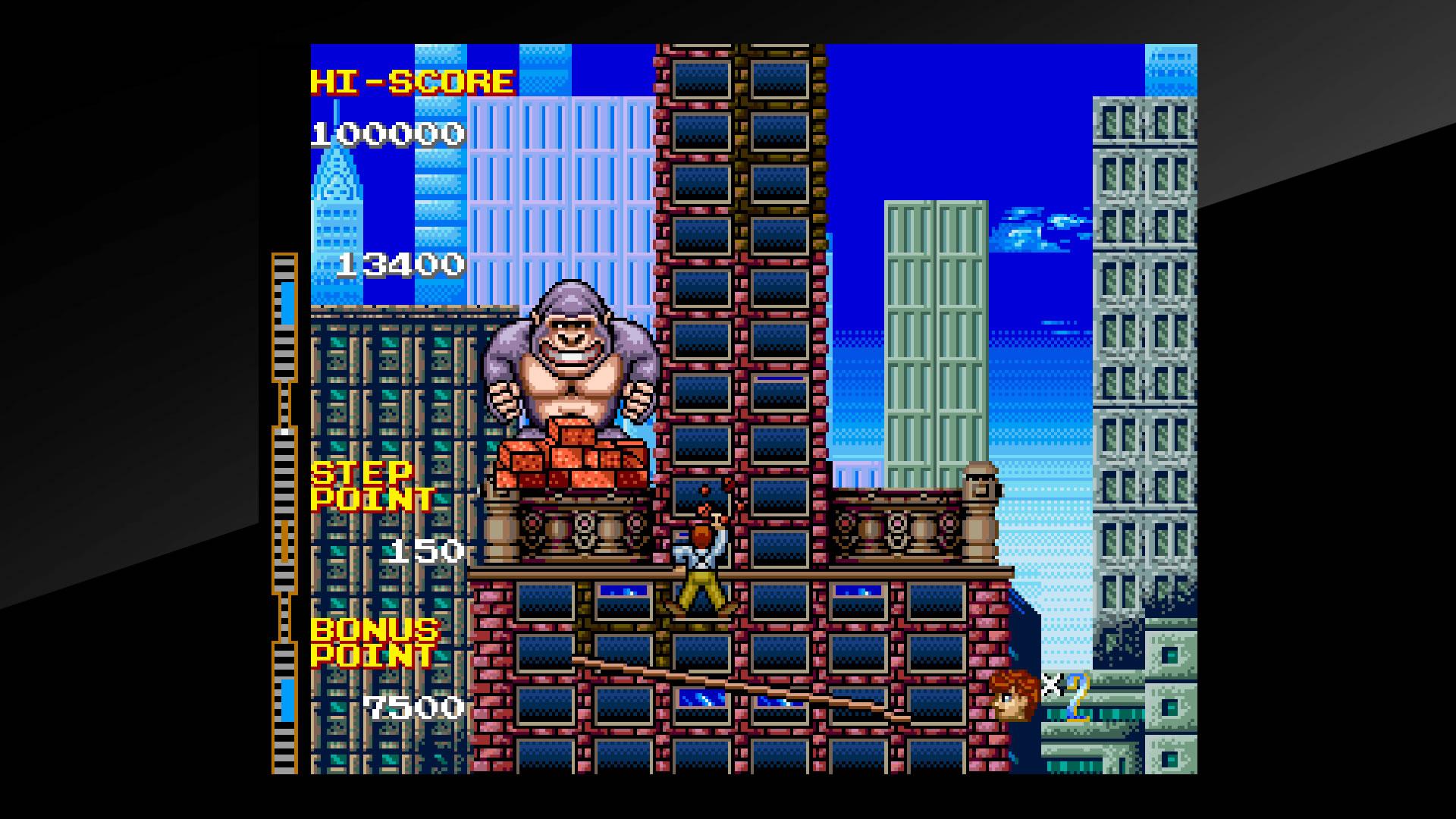 Arcade Archives CRAZY CLIMBER 2 Review Screenshot 1