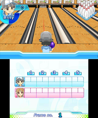Family Bowling 3DS Review Screenshot 1