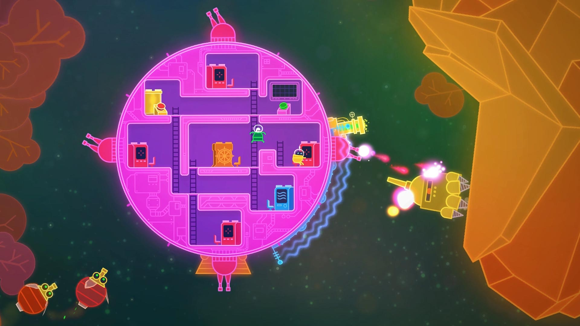 Lovers in a Dangerous Spacetime PS4 Review Screenshot 1