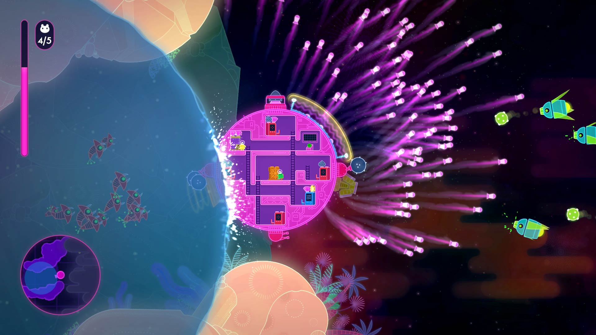 Lovers in a Dangerous Spacetime PS4 Review Screenshot 2