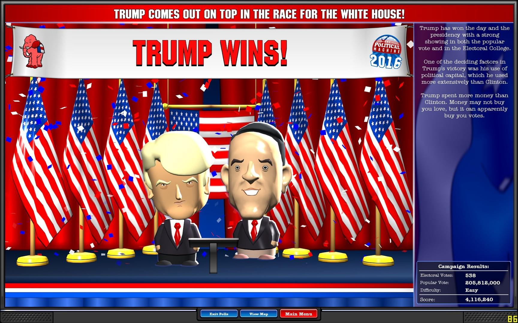 The Political Machine 2016 Review Screenshot 3