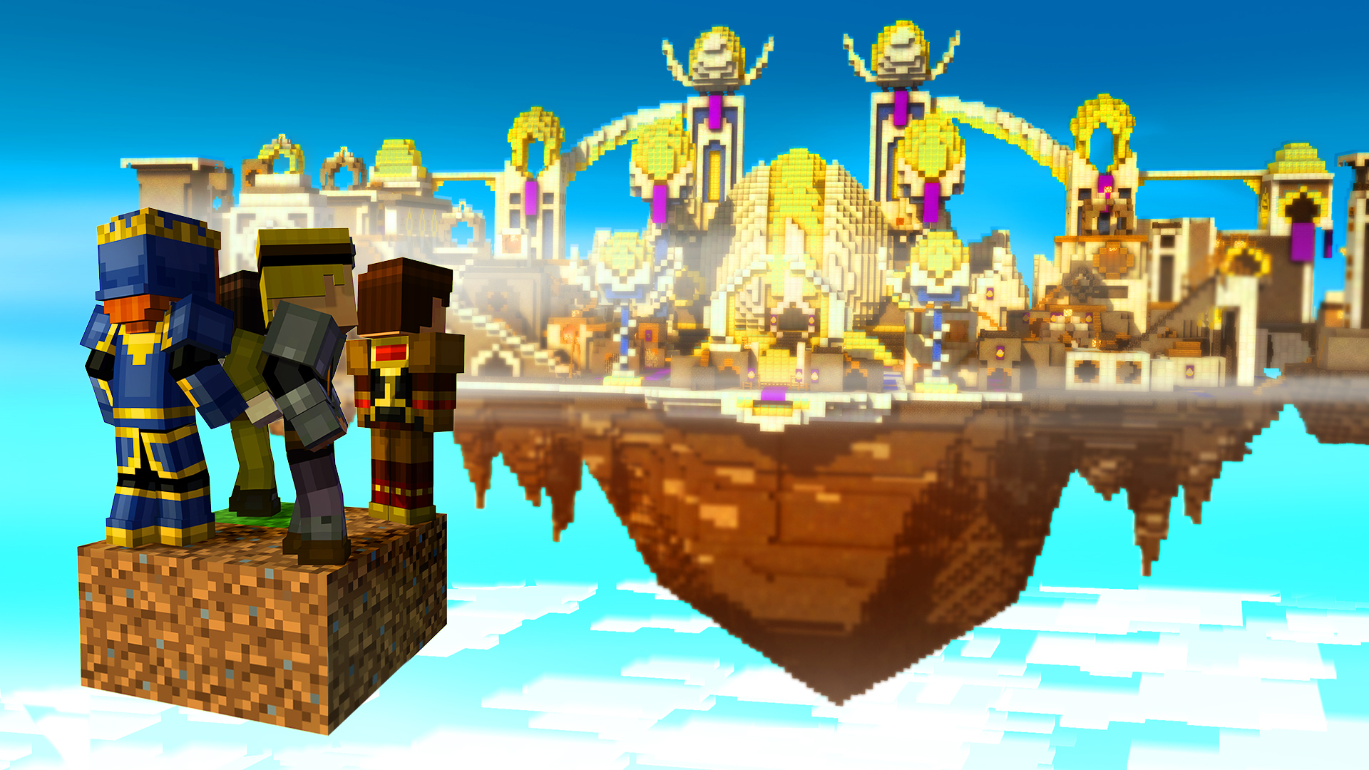 Minecraft Story Mode Episode 5 Order Up Review Sky City Screenshot