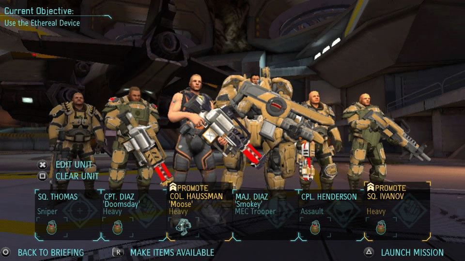 XCOM Enemy Unknown PS Vita Review Squad Screenshot