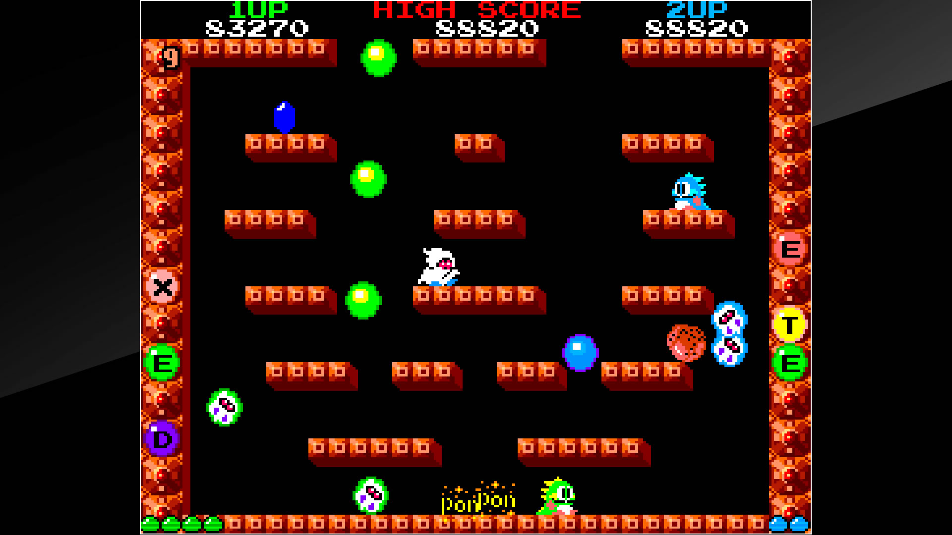 Arcade Archives BUBBLE BOBBLE PS4 Review Screenshot 3
