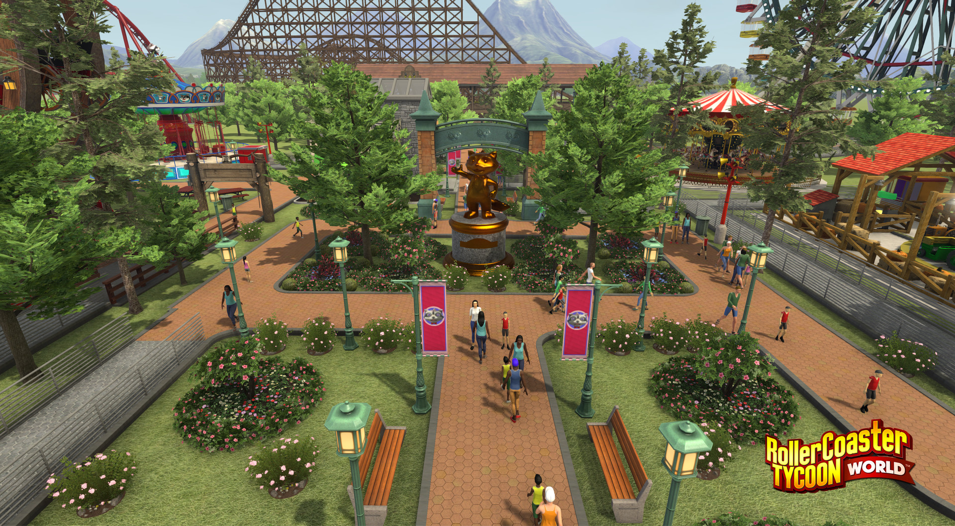 RollerCoaster Tycoon World Review Screenshot 1