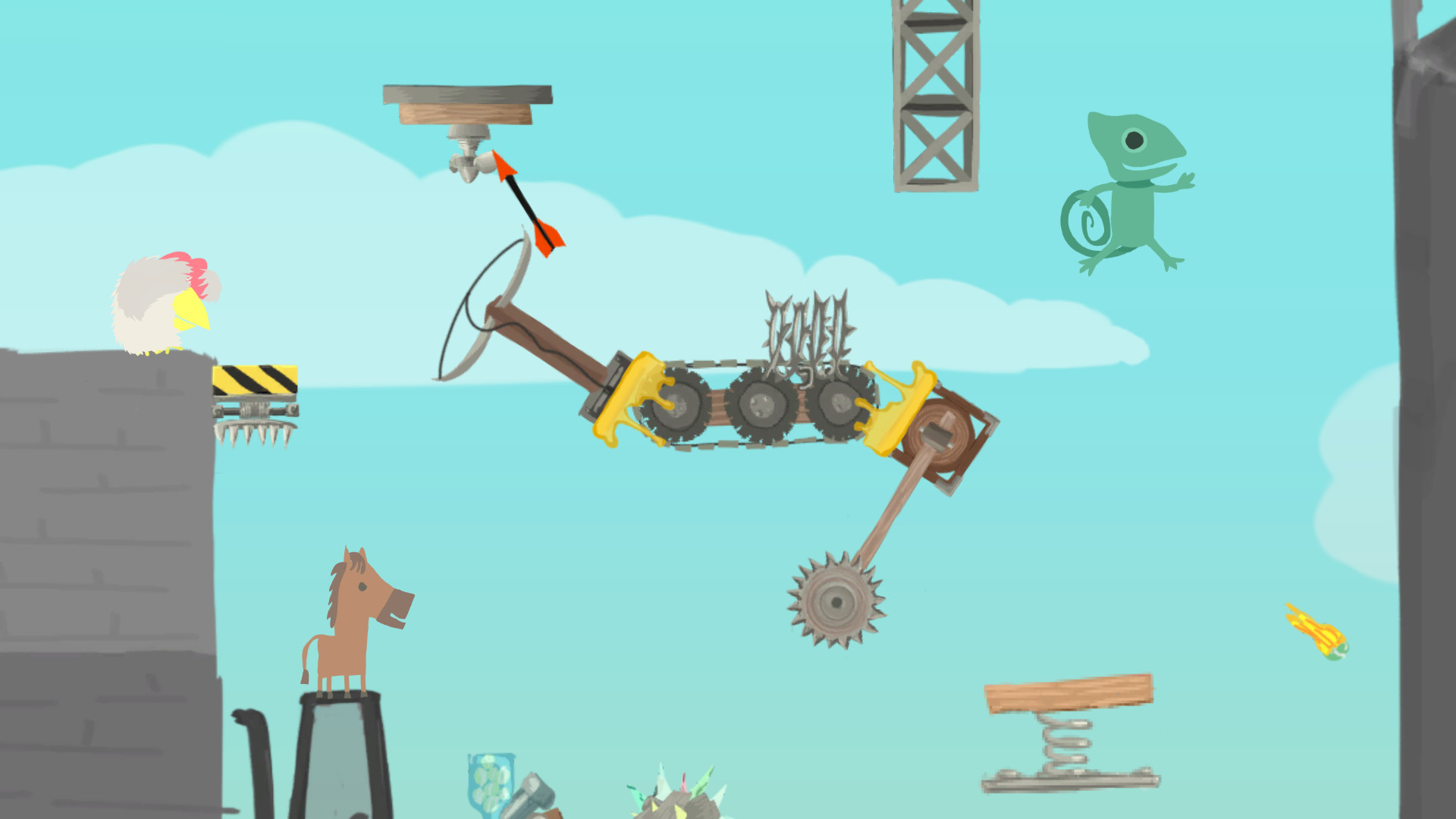 Ultimate Chicken Horse Review Screenshot 1