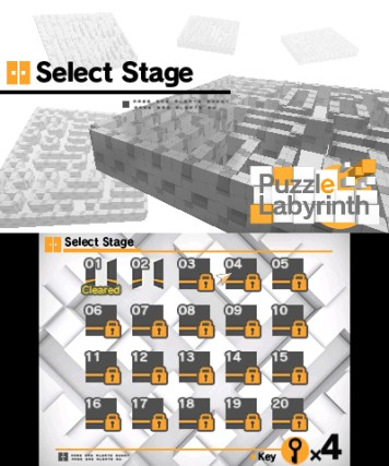 Puzzle Labyrinth Nintendo 3DS Review Screenshot 1