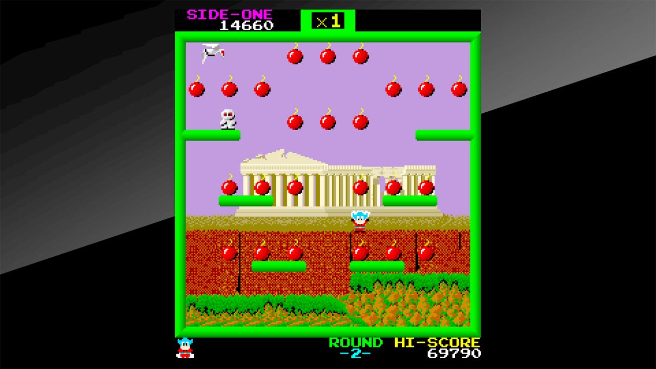Arcade Archives BOMB JACK Review Screenshot 2