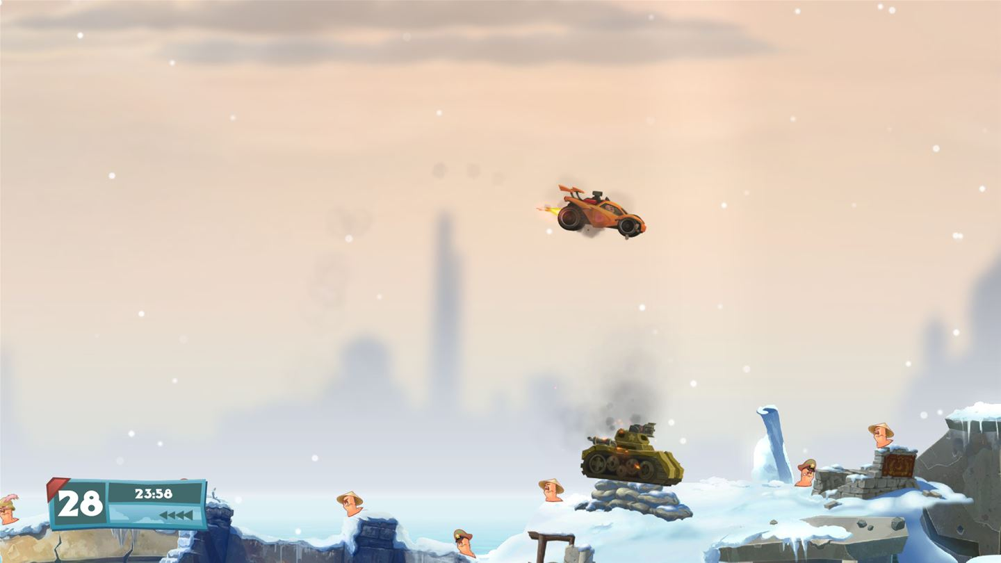 Worms W.M.D All-Stars Edition Review Screenshot 1